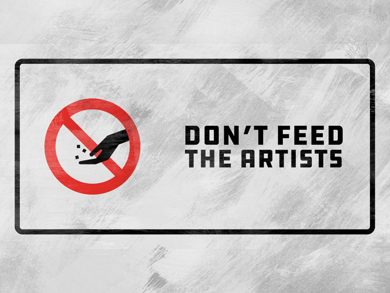 Don't Feed the Artists - Podcast Artwork icon logo brand podcast
