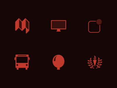 Two-Tone Icons for Mochila icon mochila icons icon design