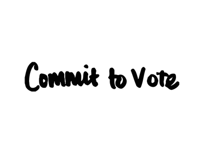 Commit to Vote political type