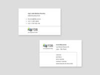 Business cards for FDB