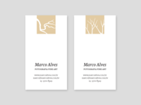 Business cards for Marco Alves, fine art photographer