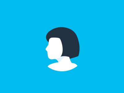 Aida Logo bot artificial intelligence ai girl woman face character robot person identity mark logo