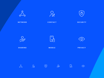 Contact App Icons contact hands mobile sharing privacy security iconography icons glyphs