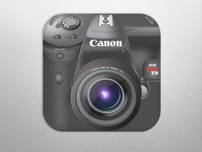 Canon t3i DSLR as a Camera App  illustrator vector camera app ios canon dslr icon lens lenses iphone cam ipad design inspiration photo apple hd retina