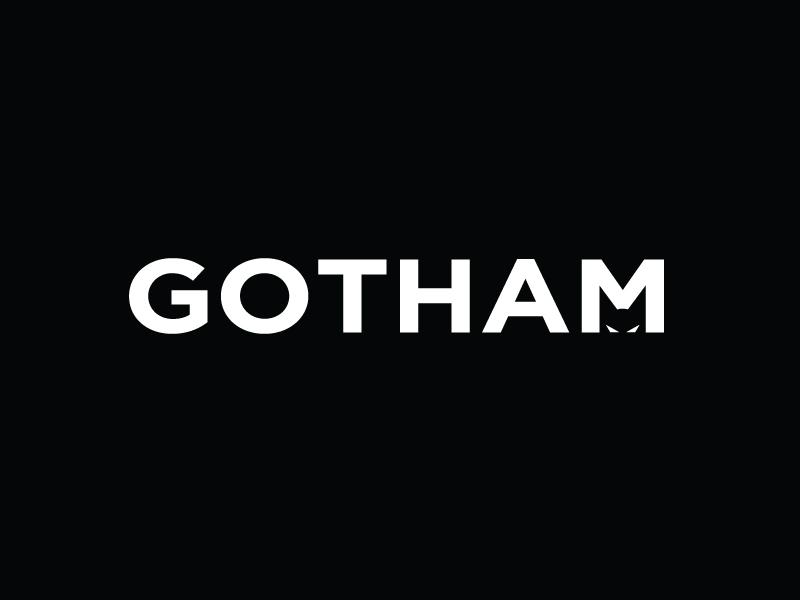 Gotham Font Meets Gotham batman gotham city typography fun creative playful pun