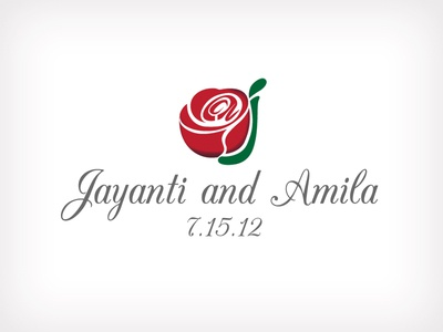 Dual Meaning Wedding Logo (Jayanti And Amila)