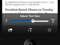 Adjust Text Size