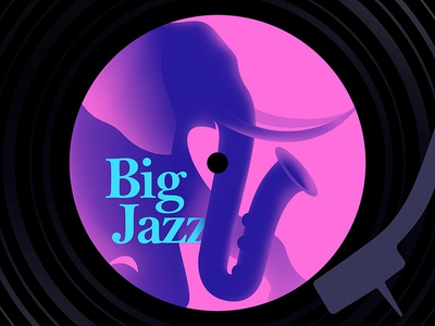 Big Jazz music vinyl jazz saxophone sax elephant
