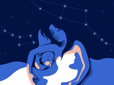 Nighty Night ursa major sleep bed hugs constellation baby love nest motherhood night