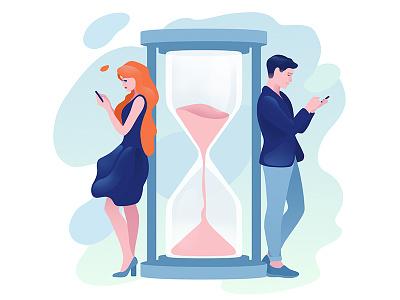 Waiting hourglass app relationship love dating girl boyfriend