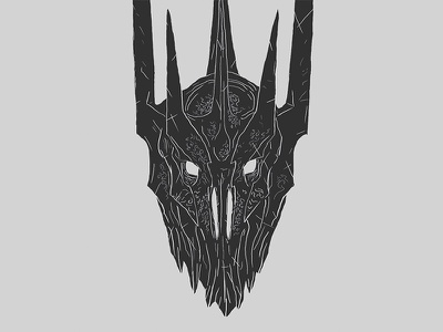 WIP Sauron Shot tolkien fantasy lord dark hand drawn photoshop black illustration the hobbit the lord of the rings sauron wip