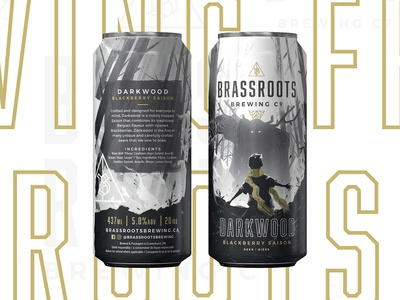 Brassroots Brewing Co. - Wrap-around Beer Can Design