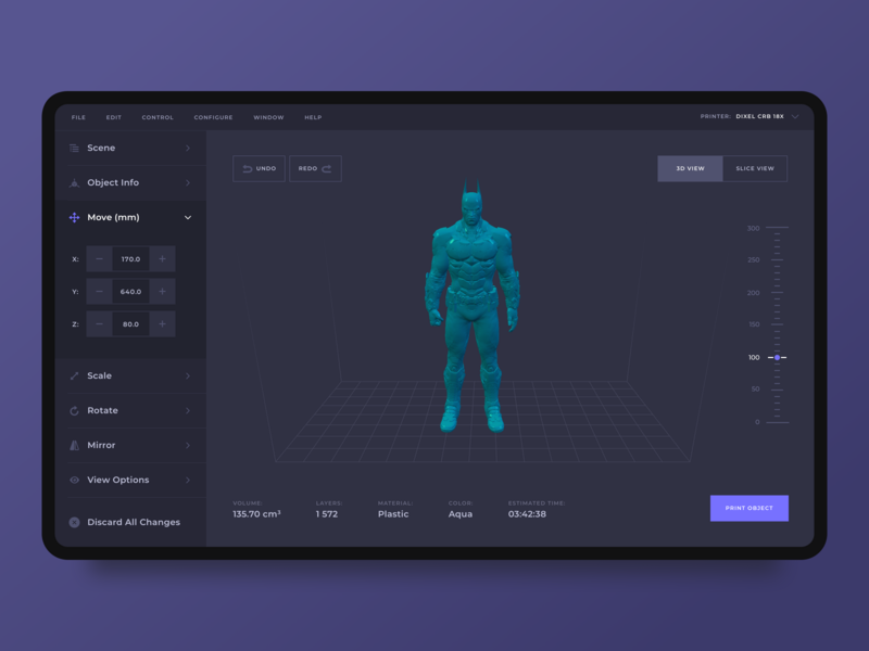 3D Models Printing App by Nazar for Cieden on Dribbble