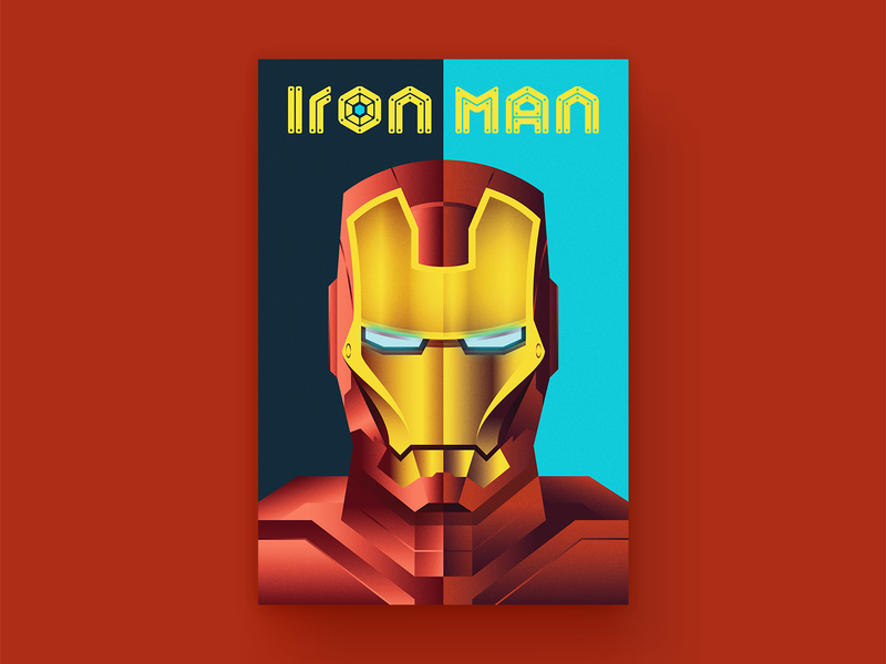 Iron Man Cover ironman iron portrait typography vector custom type comic book comic art comic type design logo illustration