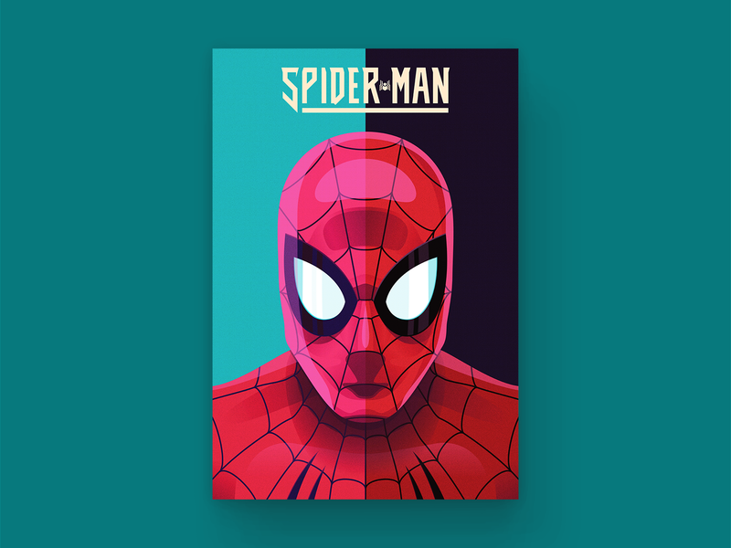 Spider-man Cover spiderman spider portrait vector typography comic book comic art comic design type illustration