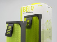 Bluetooth Speaker Art Direction & Package Design