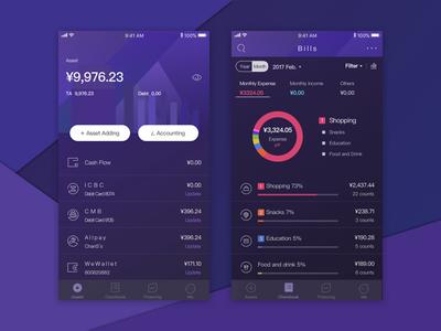 Redesign Finance App finance account budget asset checkbook app data