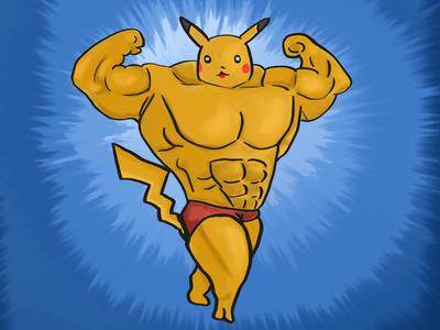Musculine Pikachu