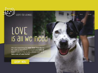 Concept - Website for an animal shelter color animal logo webdesign landingpage font logo sketch animal care website concept website love animal and pet animal animal shelter