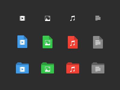 File & Folder Icons icon folder document image picture photo file sound video text mac yosemite
