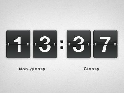 Flip clock counter for csnvaka.nu flip clock counter countdown gloss glossy skeuomorph