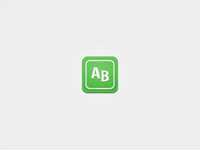 iOS icon - arvidbrane.se icon ios green white texture fabric ribbon seal ipad