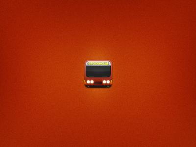 Bus icon bus ios icon sl traffic stockholm red monster skeuomorph