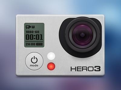 GoPro Hero3 gopro camera lens record film picture skeuomorph