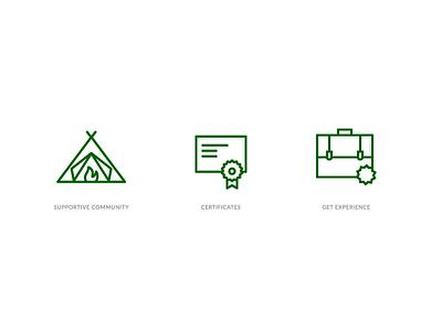 FreeCodeCamp Icons community education icons