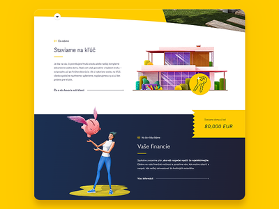Webdesign for a local building company interface website uiux icons daily ui banner yellow building company illustrations landing page webdesign ui