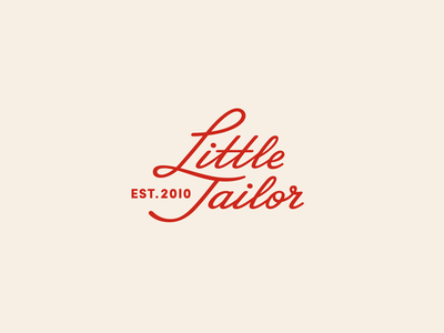 Little Tailor version 1 typography logo handwriting font retro logo vintage logo red handwriting logotype type script vintage logo