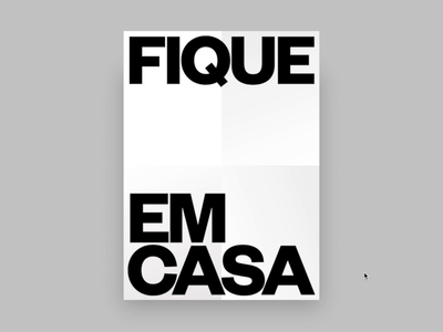 Fique Em Casa (Codepen) typographic poster digital digital design ui web front-end visual design typography design graphic design creativedoc