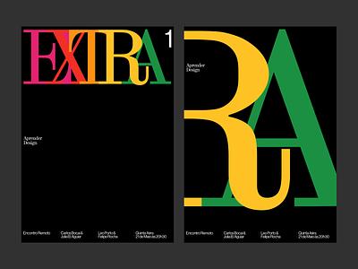 Promotion posters for Extra branding editorial ui visual design haas grotesk web digital design design typography graphic design