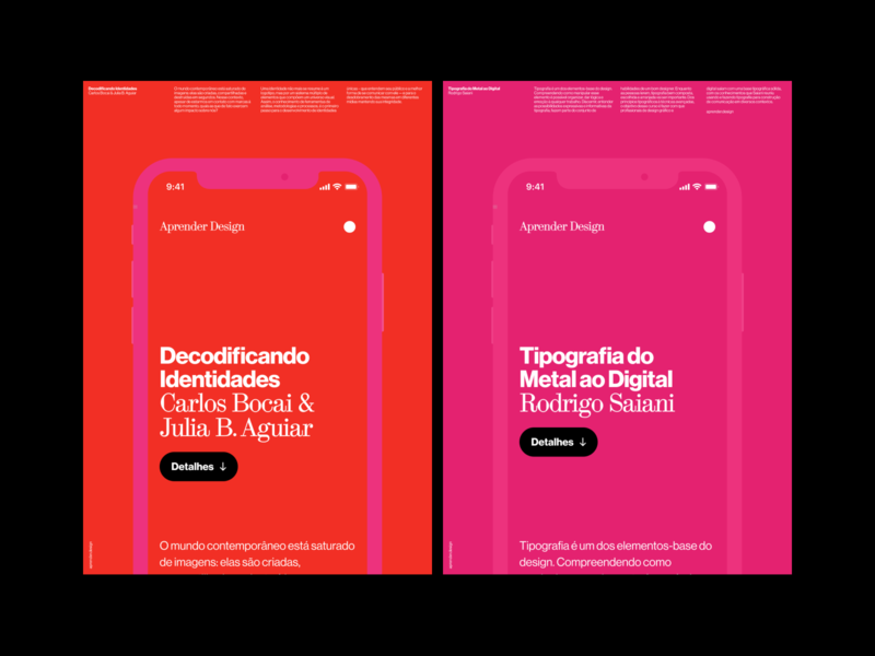 Aprender Design –Promotion posters branding digital ui haas grotesk web digital design visual design typography design graphic design