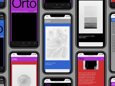 Orto –Mobile version graphic design ux digital branding haas grotesk ui web digital design visual design design