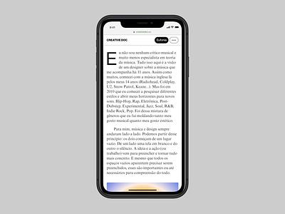 Creative Doc – New identity (mobile website) web branding digital haas grotesk editorial digital design typography visual design design graphic design