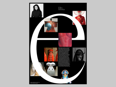 EIKO IKANA poster typographic haas grotesk editorial web ui branding typography visual design design graphic design