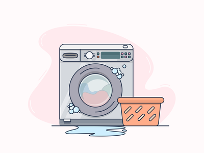 Juggle Properties: Empty state for maintenance maintenance washing machine empty state branding figma ux ui digital art vector illustration