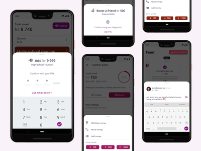 Stylish, functional bottom sheets authentication financial service design sheets ios social saving social platform progress bar mobile app app design saving app saving android product design ux ui