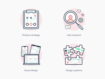 Portfolio illustrations user experience user interface ux ui illustration product strategy user research design systems visual design product icon product designer product design