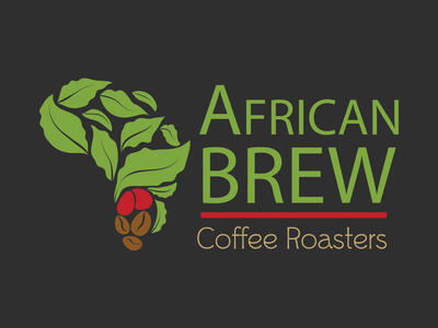 Branding for African Brew Coffee Roasters logomark brand design brand identity roaster africa coffee brand vector typography branding logo illustration