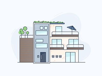 Modern apartment builiding stylish modern building apartment building apartment figma vector digital art illustration