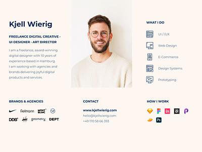 Business Card Portfolio clean branding freelance design concept web portfolio ux ui