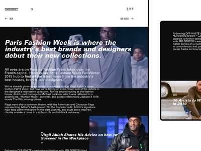 Web identity for @highsnobiety / 2 animation uidesign branding digital design concept app webdesign web ux ui