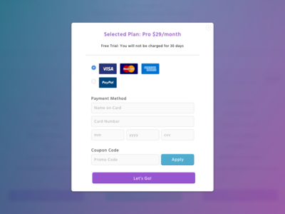 Product Payment Modal