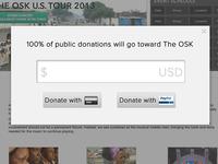 Donate Popup