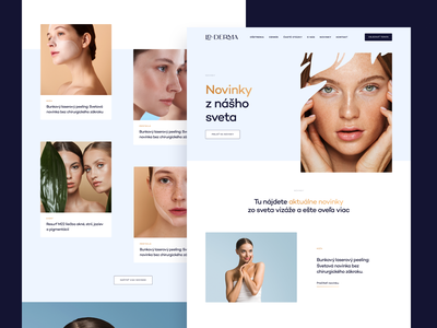 LDDERMA — News web skin dashboard branding website web app product design wed design ui design ux design dermatology saas b2c marketing ux ui responsive cms visual identity user experience