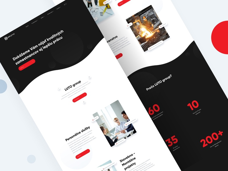 LUTO Group - Homepage product careers gradient luto website webdesign web app web sketch portfolio mobile app minimal ui illustration clean business landing page app branding agency