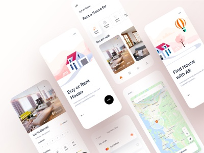 Real Estate App branding agency app design ofspace agency dribbble ofspace branding design brand identity brand design branding brand real estate branding real estate agency real estate agent real estate logo real estate realestate