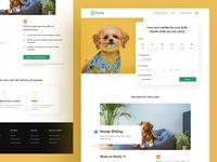 Floofy Redesign Concept dog illustration dog branding agency illustration website branding design real estate agency ofspace website design dribbble app design branding floofy